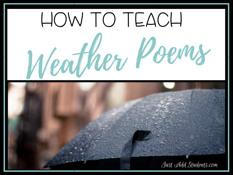 How to teach weather poems