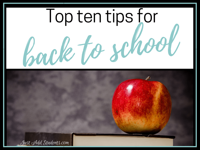 top ten tips for back to school