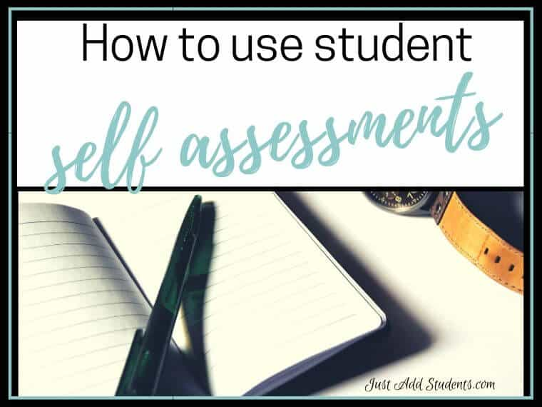 How to use student self assessments
