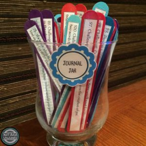 Create a journal jar for your students.