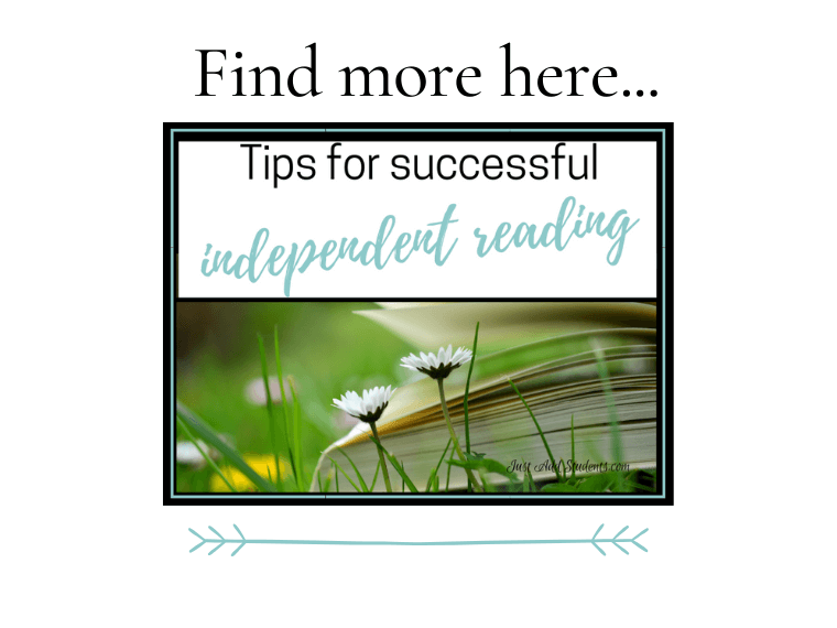 Tips for successful independent reading in middle school