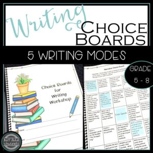 writing workshop choice boards