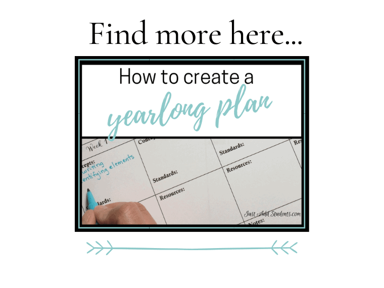 How to create a Yearlong Plan