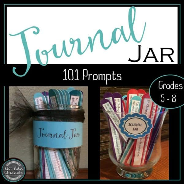 Make this journal jar and provide your students with 101 new ideas to write about.