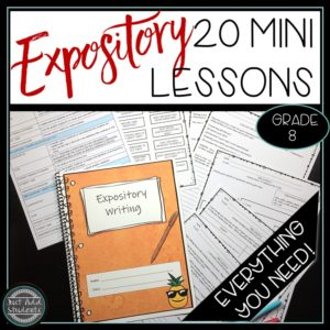 Everything you need to teach expository writing