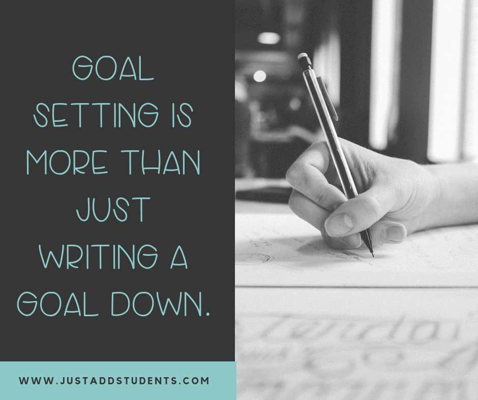 Goal setting for middle school students is more than just writing a list.  Teach students how to break down their goals with these 8 steps.