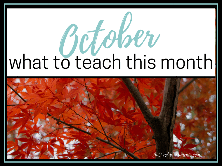 Looking for ideas for October? Here are 12 ideas that will strengthen writing, reading, researching, and speaking skills for your students!