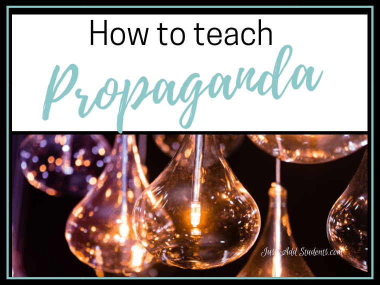 Looking for ways to teach critical thinking skills? Here are ways to use propaganda to help students practice. Free lesson plan included.