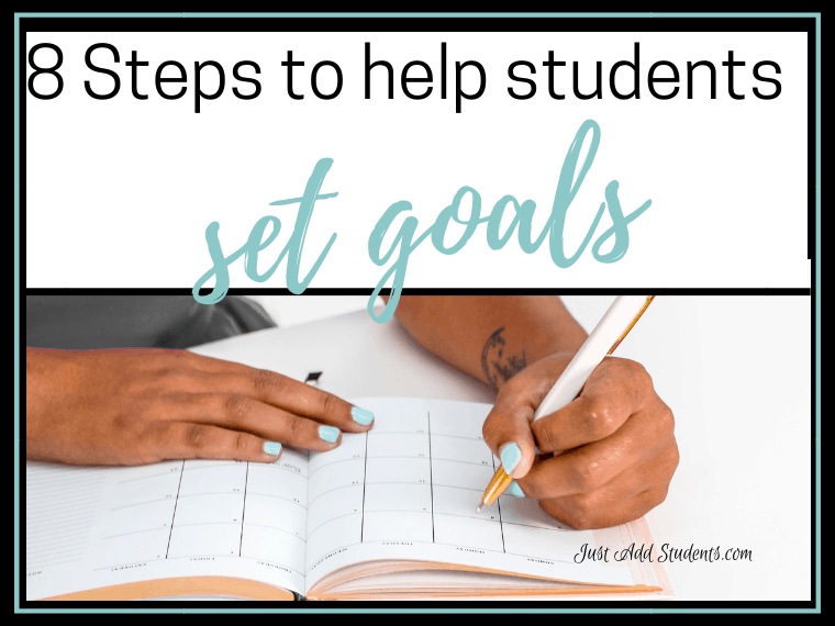 Help your students write goals and use steps to meet those goals.