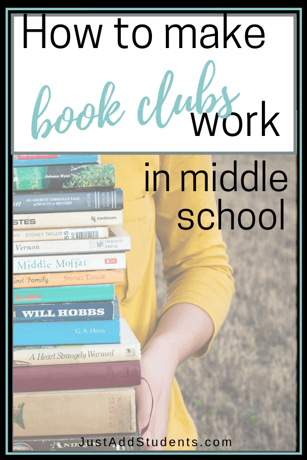 Ready to start a book club with your middle school students?  Here are ideas, titles, and activities for literature circles.