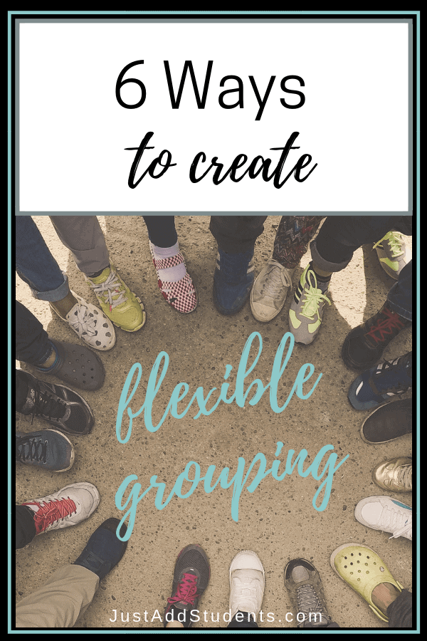 Here are 6 strategies to use to group your students.  These flexible grouping ideas will help with differentiation, projects, and discussions.