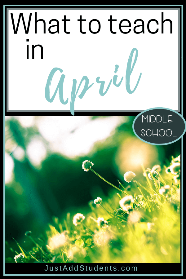 Wondering what to teach in April?  This post is full of ideas for reading, writing, grammar, research -- and more!