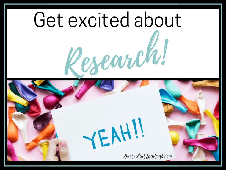Here are ideas to help students get excited about research. Lesson plans and ideas that will get you started.