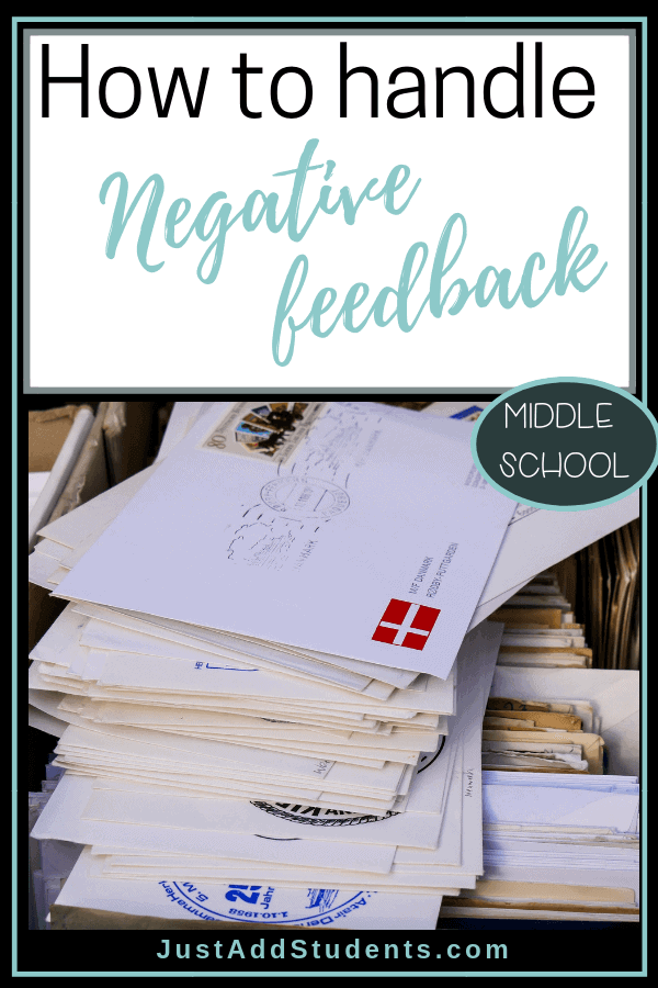 Wonder how to respond to negative feedback?  This list of tips will help you respond to principal, parent, and student feedback.