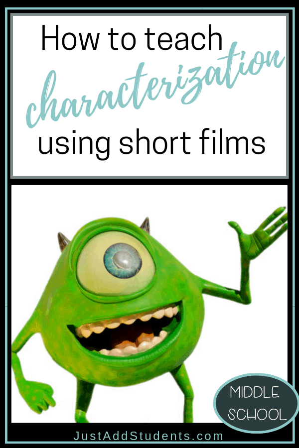 How to teach characterization using short films like pixar that will keep your students engaged.