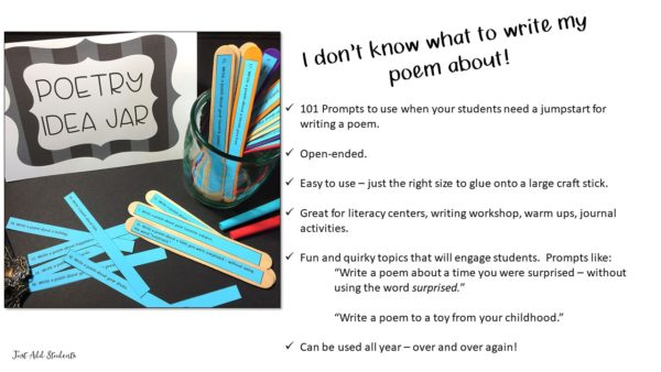 Ready to use poetry prompts!