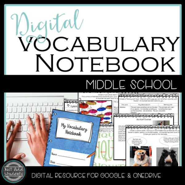 digital vocabulary notebook makes teaching new vocabulary easy