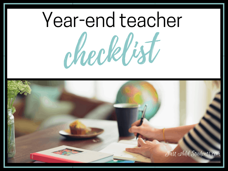 Tips and checklist for organizing the end of the school year.