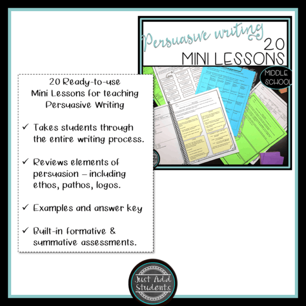 mini lessons for teaching persuasive writing