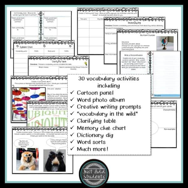 digital vocabulary workbook