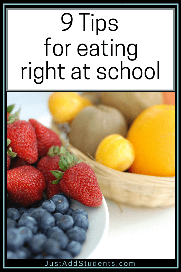 Here are nine tips that will help you eat right at school and start the year with healthy habits!