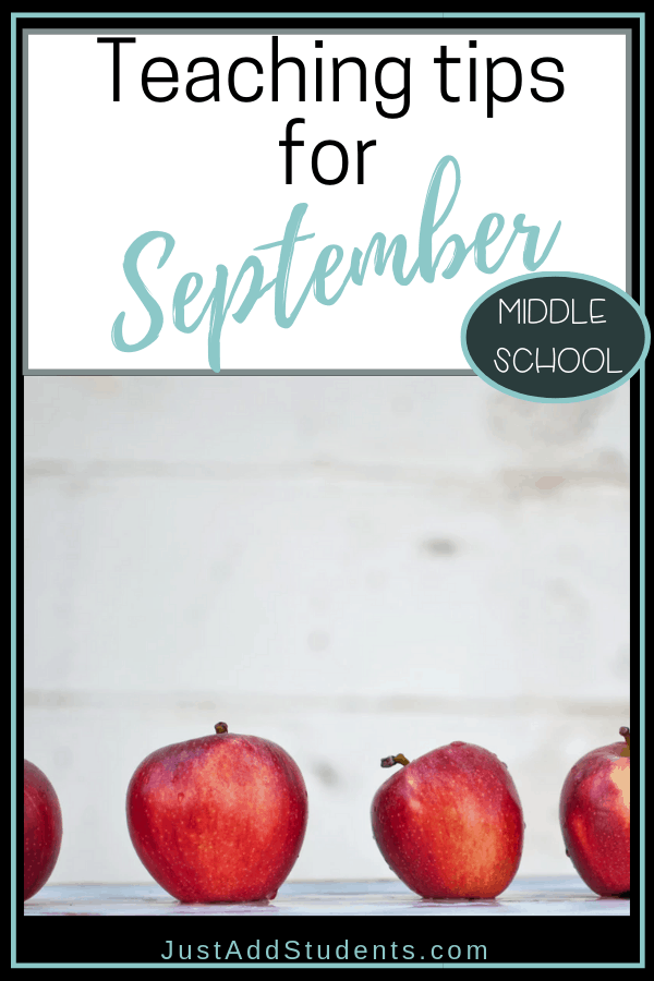 What are you teaching in September? Here is a list of ideas and topics to get you going!  Middles school activities and lesson plans.