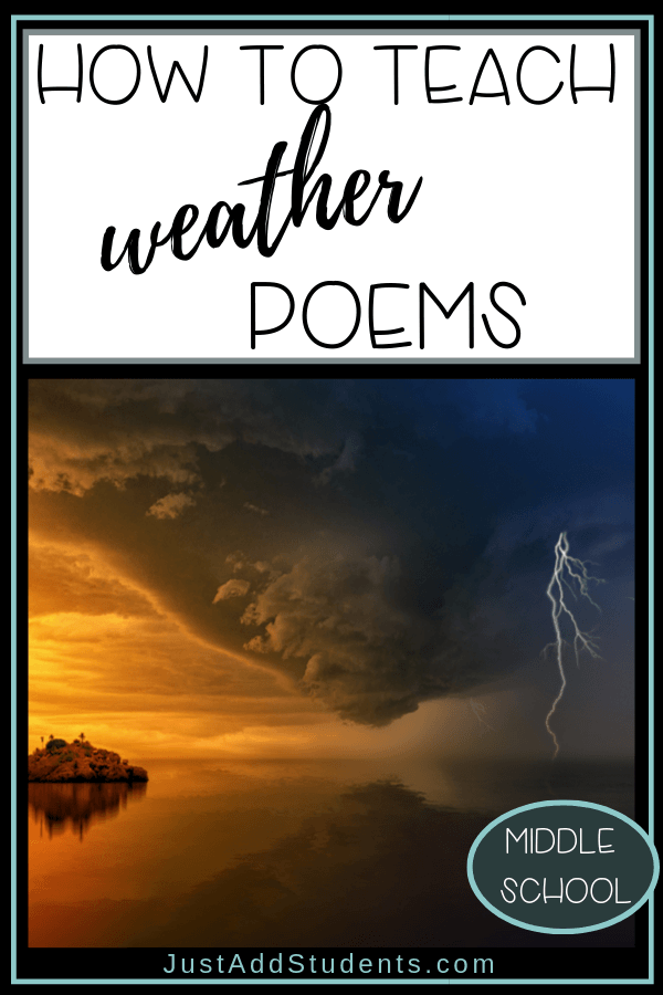 How to teach word choice and imagery by using weather poems.  Teaching weather poems.