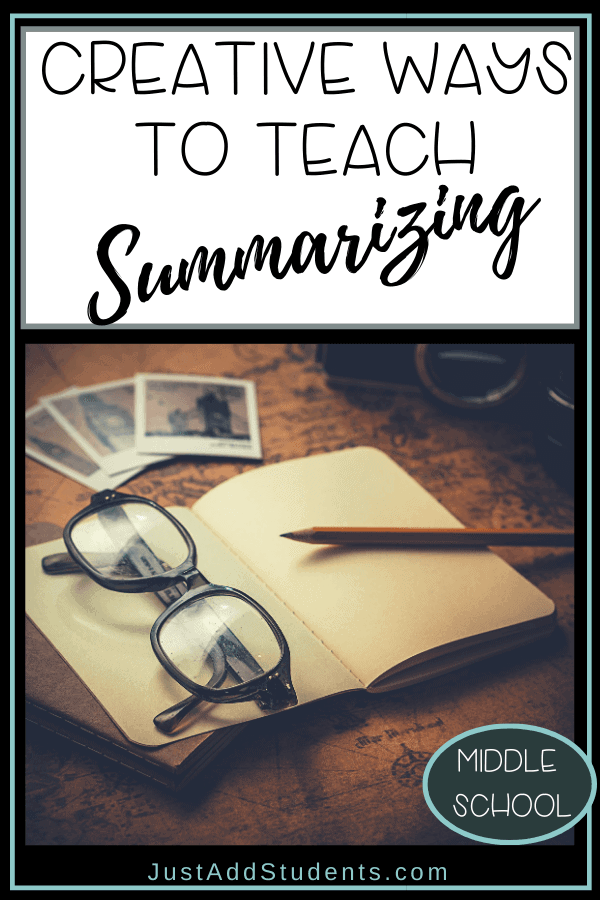 Creative and easy ways to teach summarizing skills.