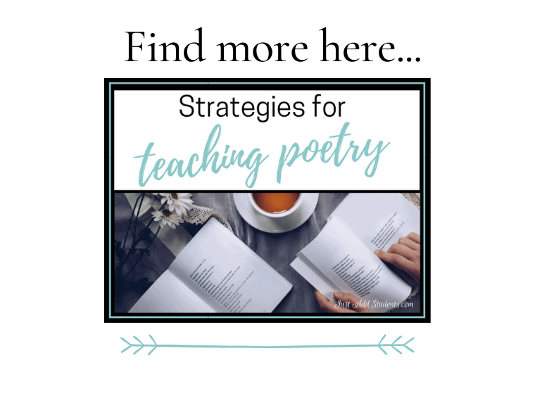 Strategies for teaching poetry
