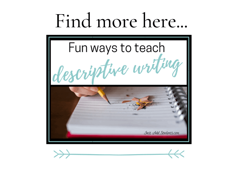 ways to teach descriptive writing