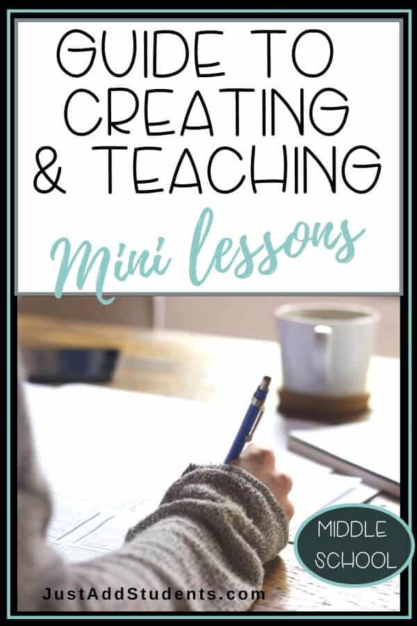 A guide for using mini lessons to teach writing workshop