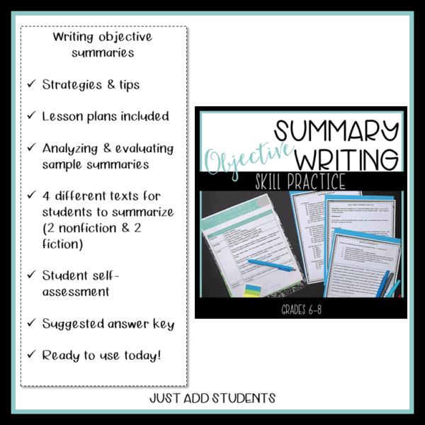 summary writing skills practice