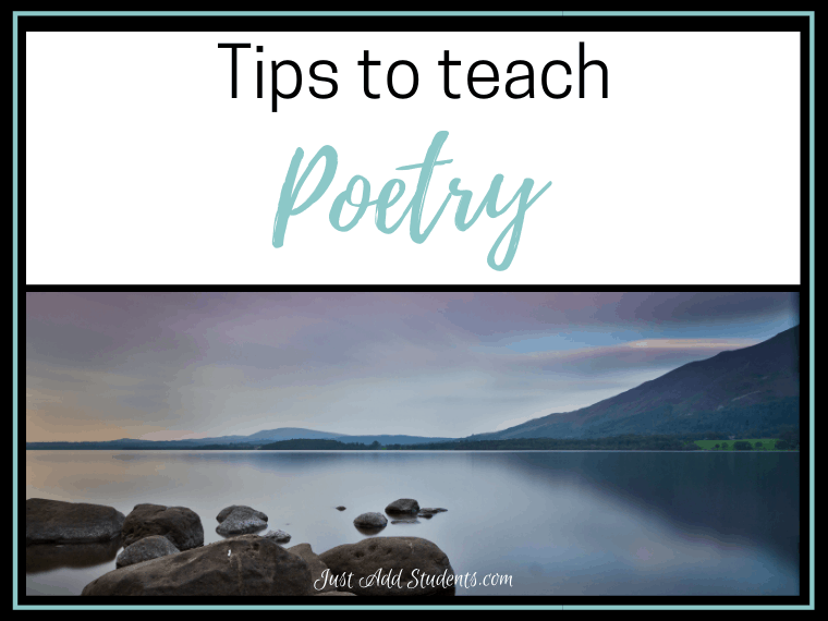 tips for teaching poetry