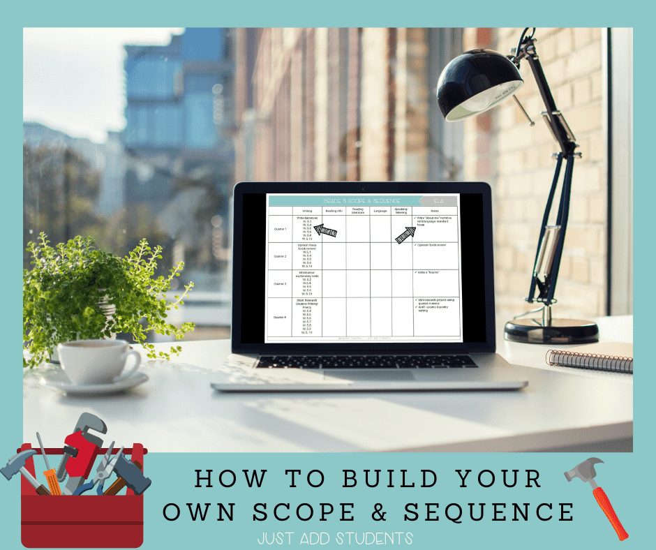 How to build your own scope and sequence