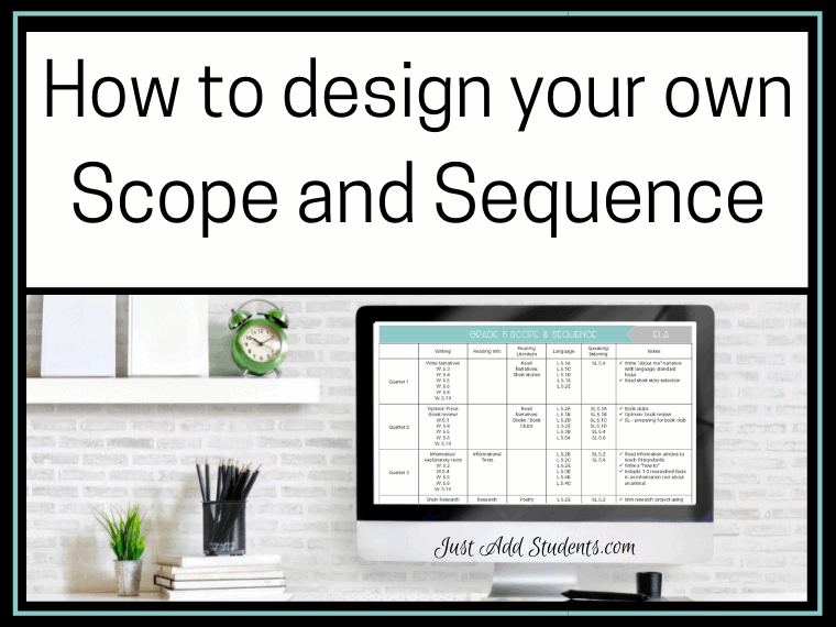 How to write a scope and sequence