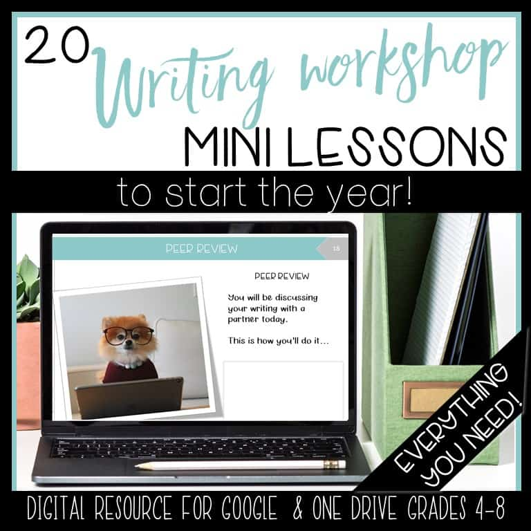 writing workshop mini lessons for back to school