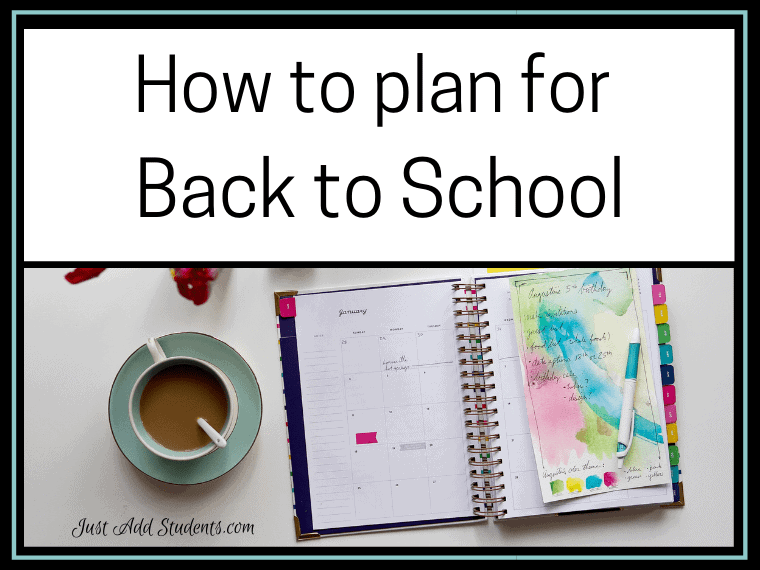 How to plan for Back to School
