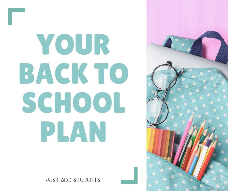 Planning Back to school activities
