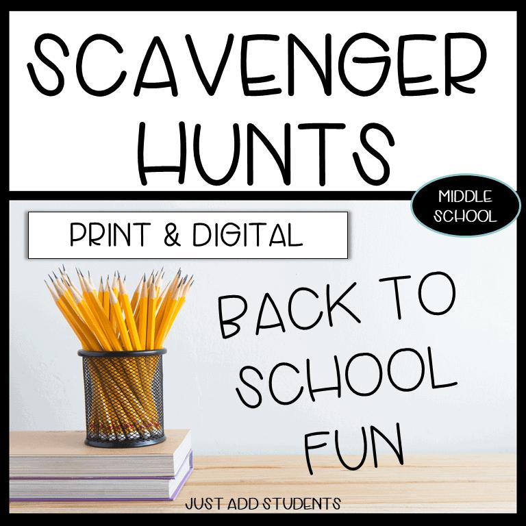 scavenger hunts for back to school