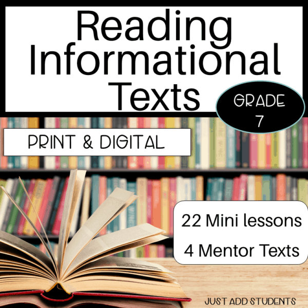 Reading Informational Text Mini Lessons