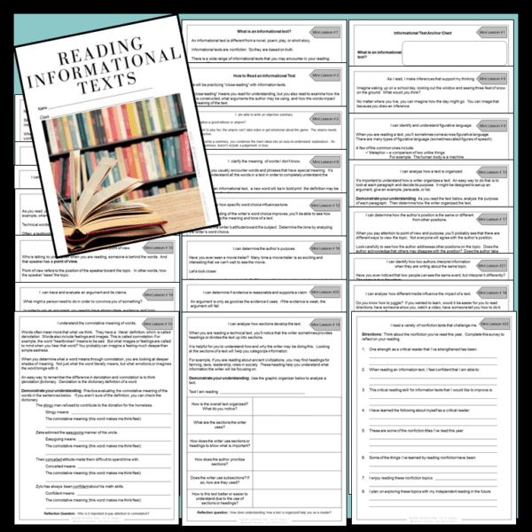 Reading Information texts Preview